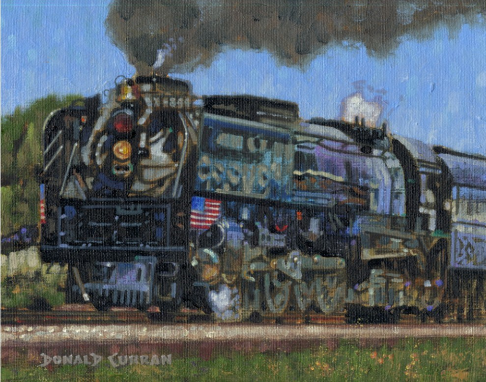 """Union Pacific 844"" original fine art by Donald Curran"
