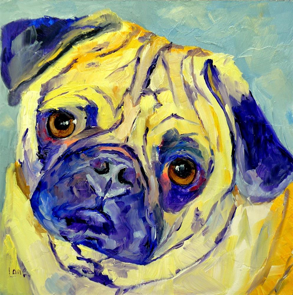 """FRANK 74/101 OF 101 PET PORTRAITS IN 101 DAYS © SAUNDRA LANE GALLOWAY"" original fine art by Saundra Lane Galloway"