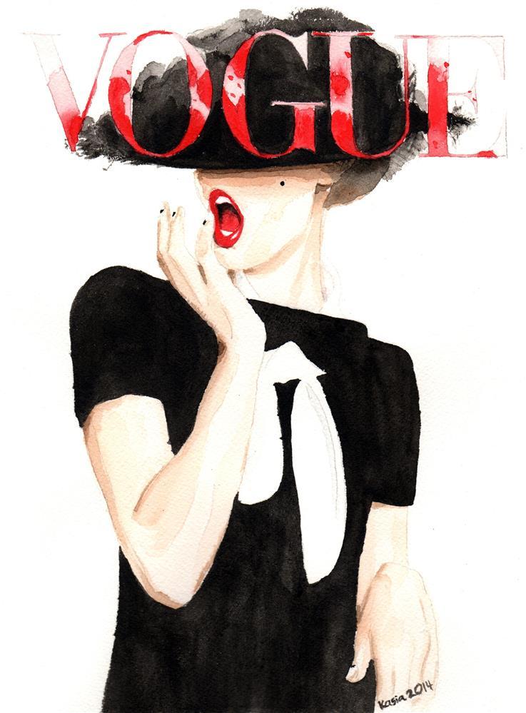 """""""Vogue. Frida Gustavsson."""" original fine art by Kasia Blanchard"""