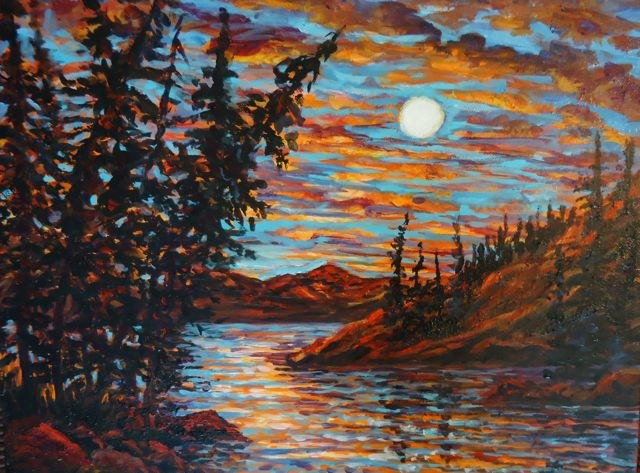 """Moonlight Sonnet"" original fine art by Jackie Irvine"