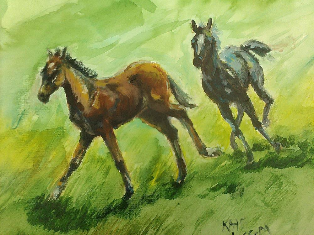 """Chase"" original fine art by Kate Less-Madsen"
