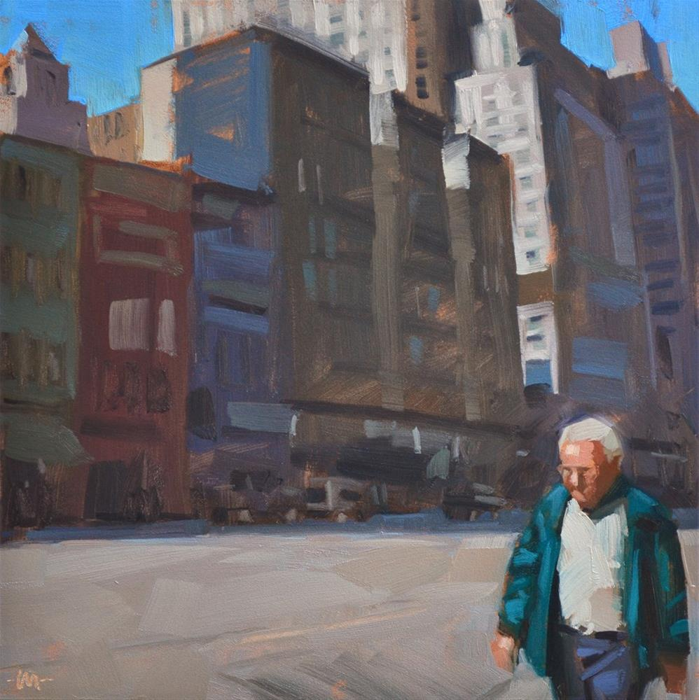 """Alone in the City"" original fine art by Carol Marine"