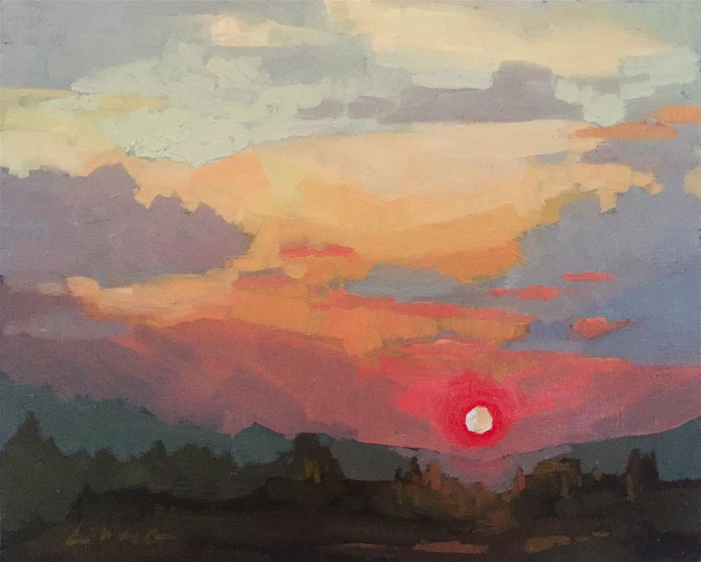 """Late Summer Sun"" original fine art by Chris Long"