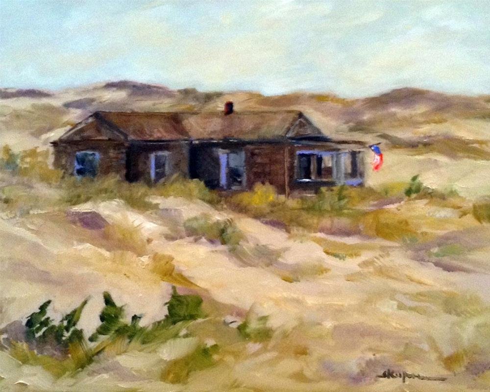 """Beach Cottage"" original fine art by Shelley Koopmann"