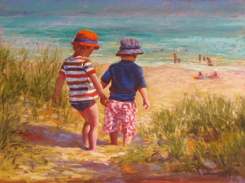 """To the Sea!"" original fine art by Ruth Mann"