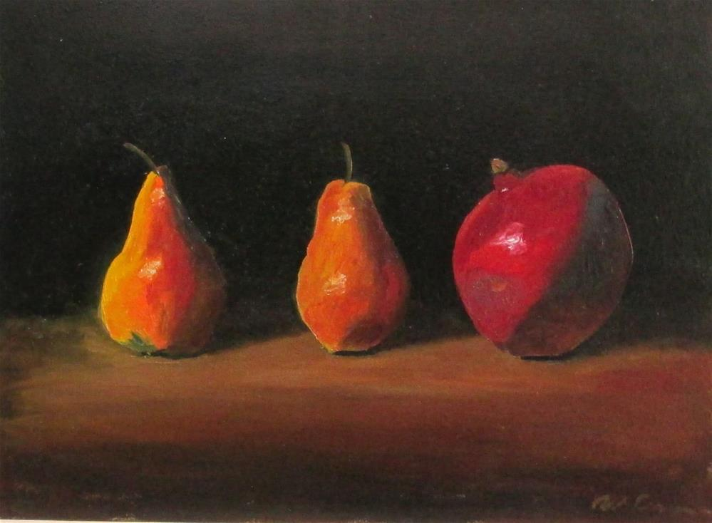 """Pears and Pomegranate"" original fine art by Will Dargie"