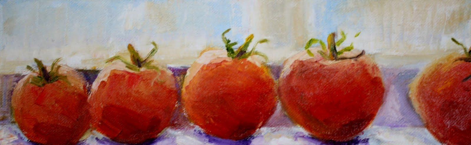 """""""Tomato Tango"""" original fine art by Maggie Flatley"""