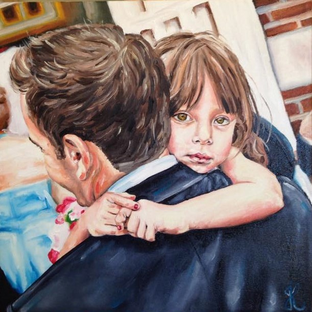 """Daddy's little girl"" original fine art by Jacinthe Rivard"