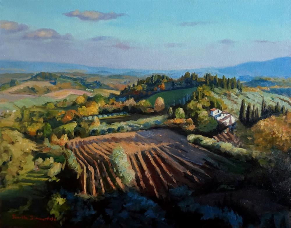 """View from San Gimignano"" original fine art by Jonelle Summerfield"