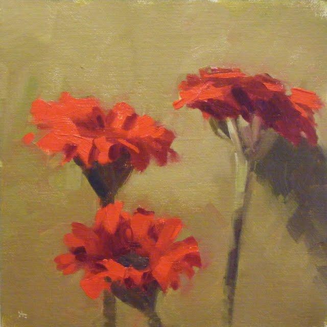 """GERBERAS"" original fine art by Helen Cooper"
