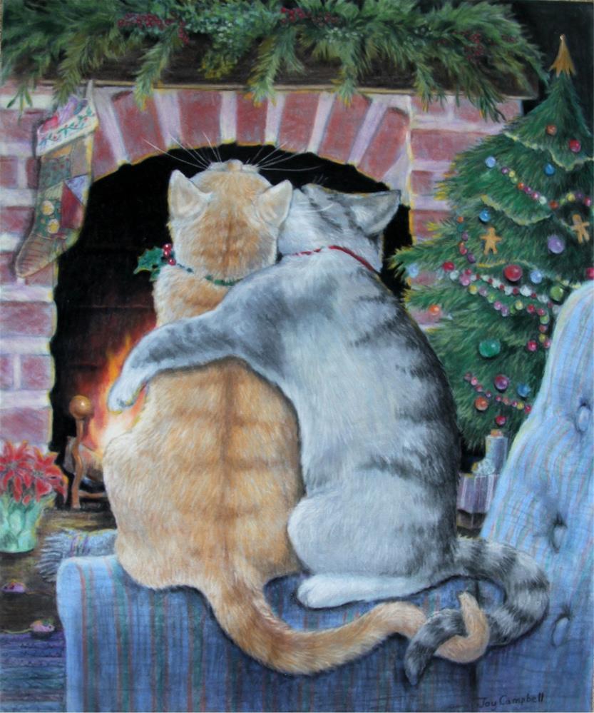 """Christmas Kiss"" original fine art by Joy Campbell"