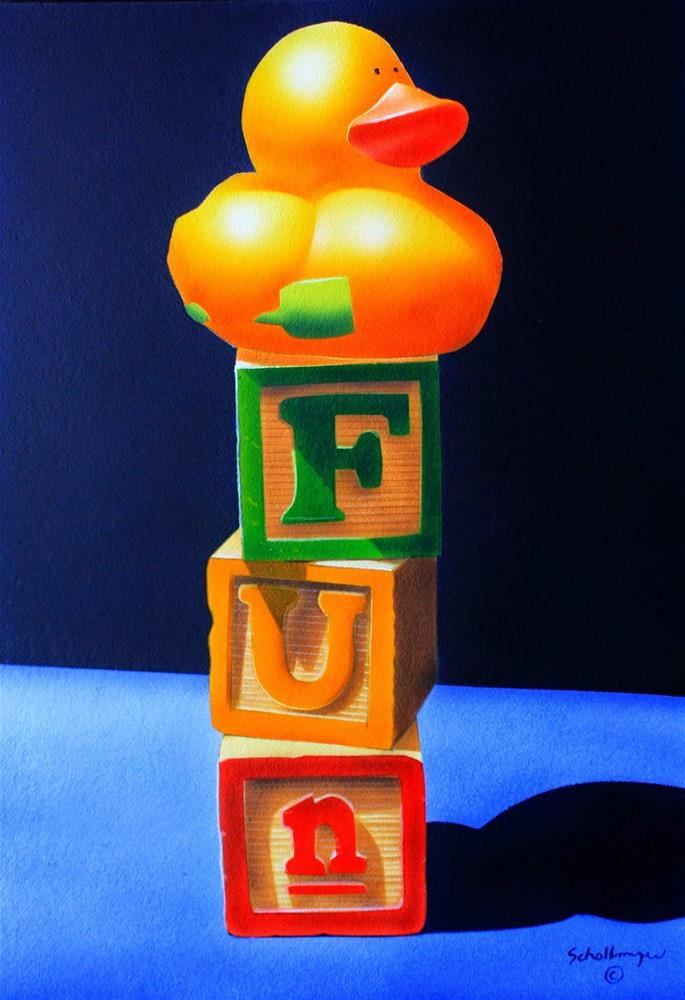"""Fun"" original fine art by Fred Schollmeyer"