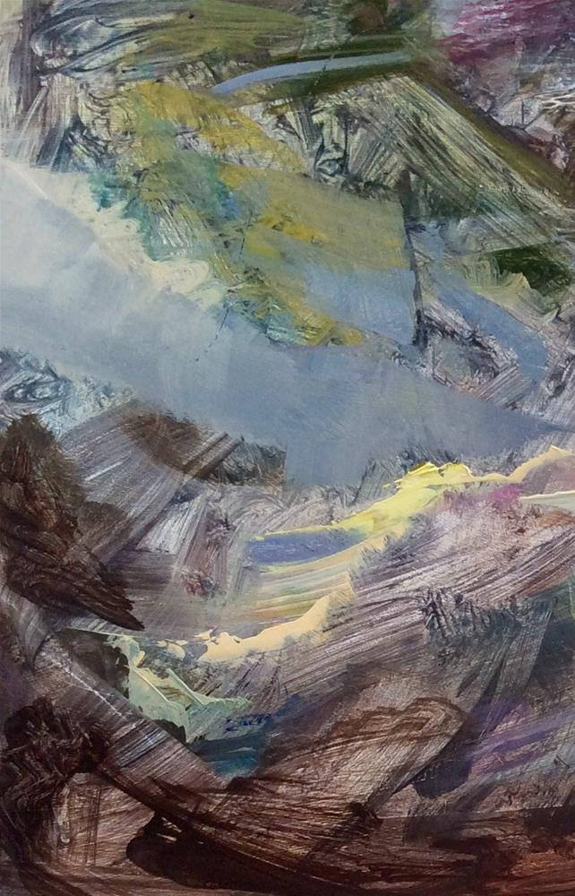"""Blue Stream"" original fine art by Anne Wood"
