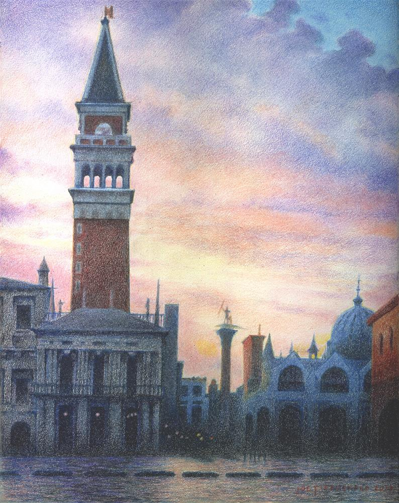 """Campanile - San Marco"" original fine art by Joe Fitzgerald"