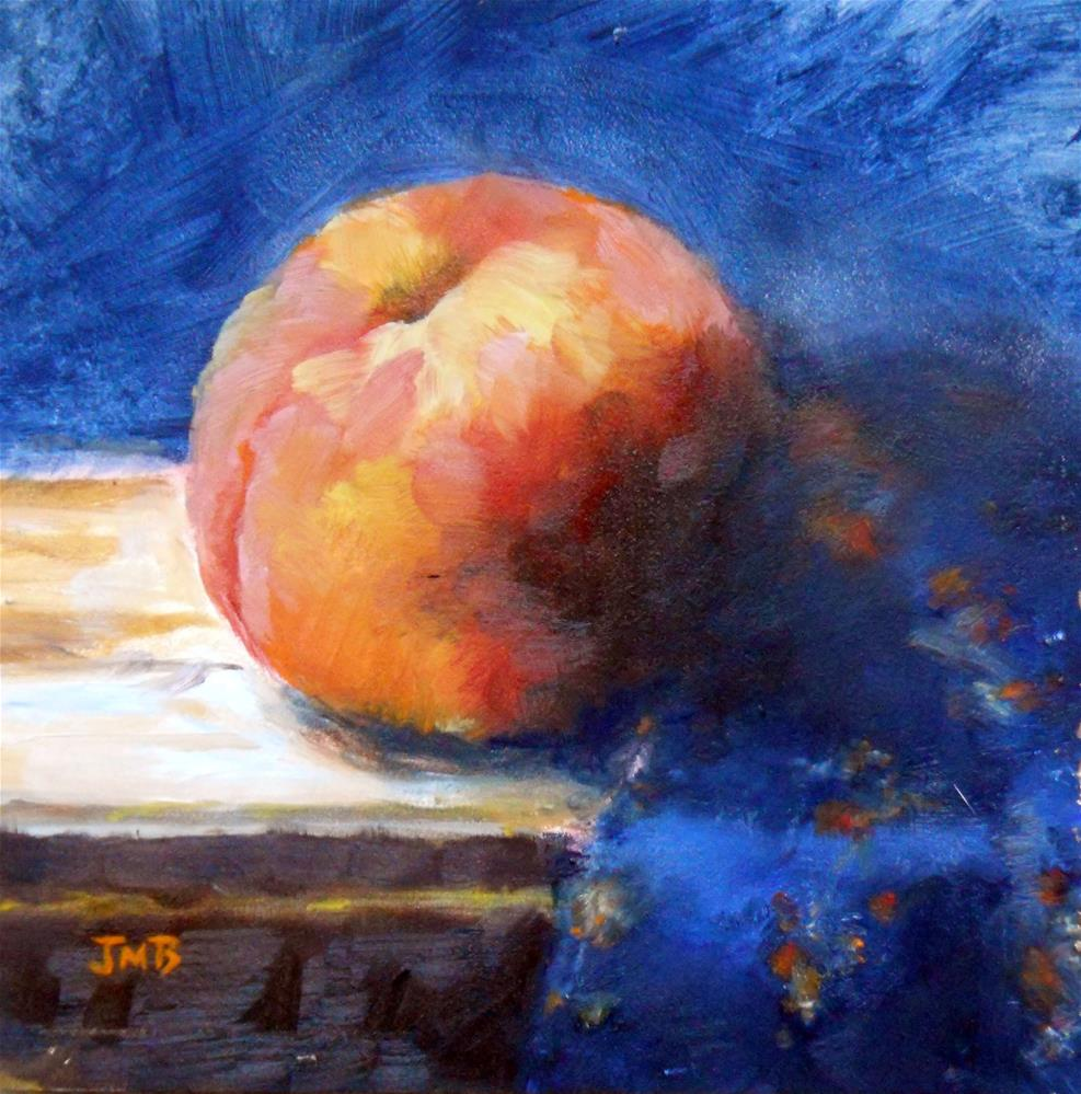 """Peachy Keen"" original fine art by Jill Brabant"