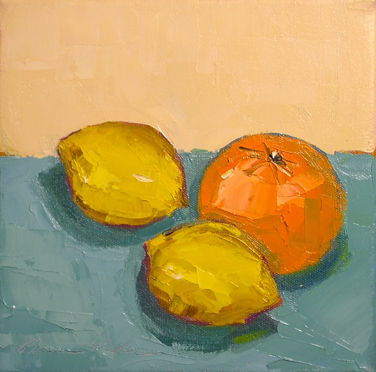 """Lemon, Lemon, Orange"" original fine art by Donna Walker"