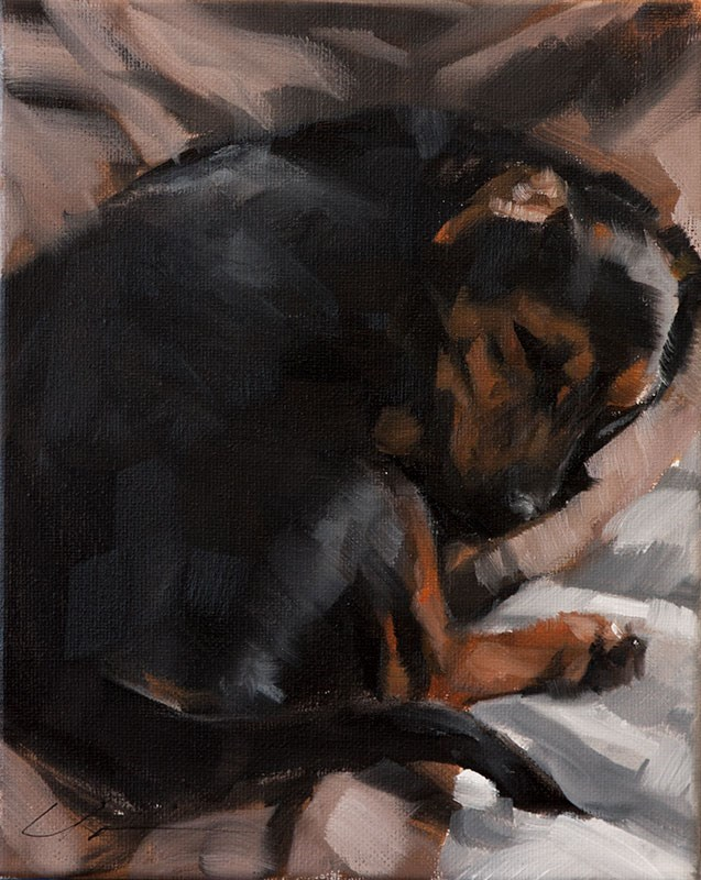 """Baxter"" original fine art by Clair Hartmann"