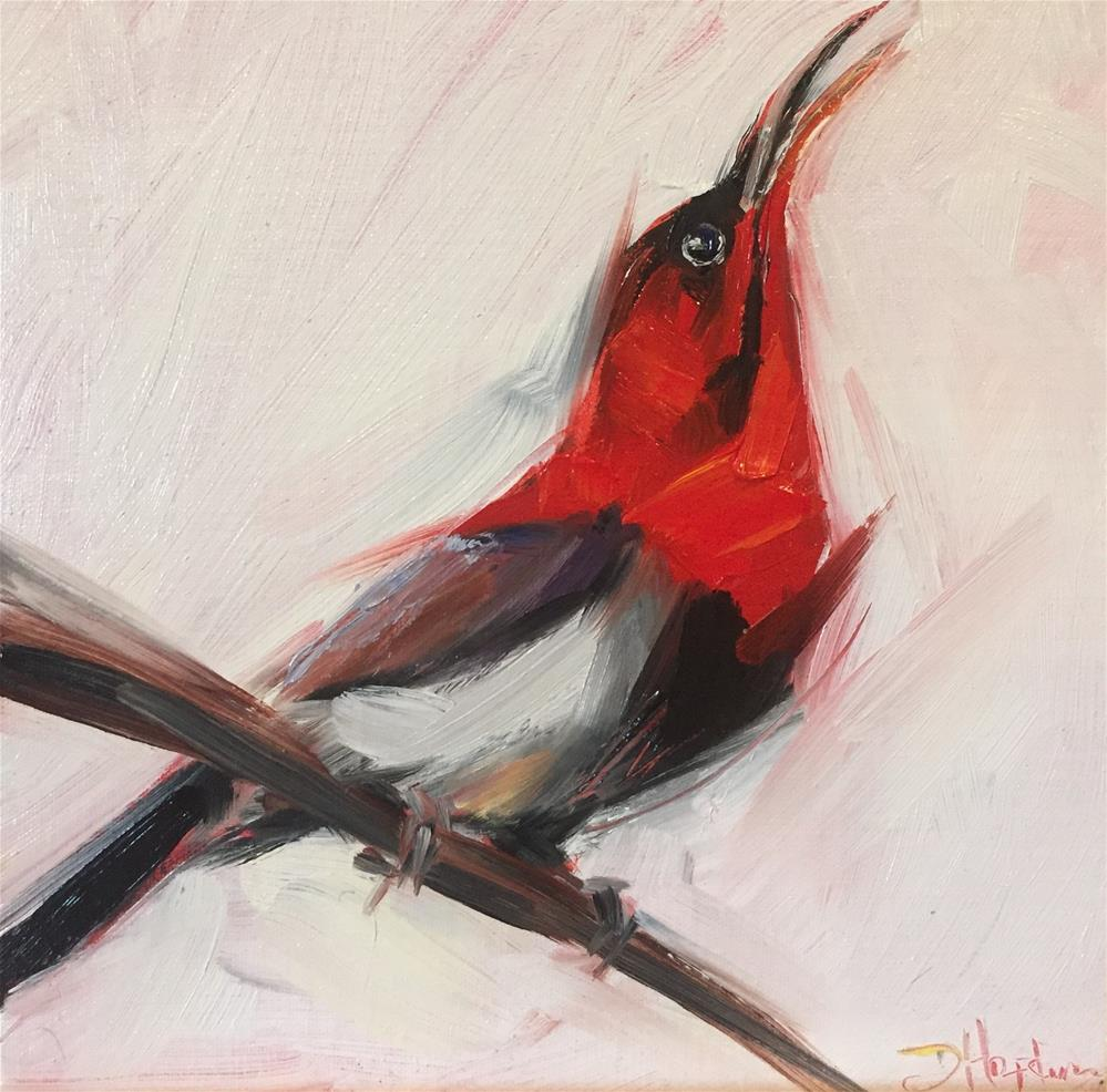 """Hope is the Thing with Feathers"" original fine art by Denise Hopkins"