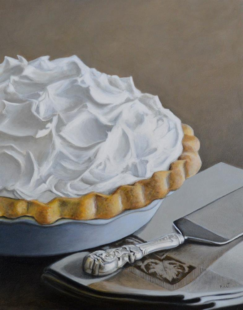 """""""Coconut Cream Pie - Commission"""" original fine art by Kim Testone"""