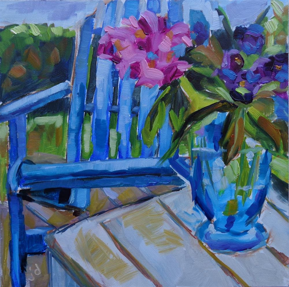 """DECK DAY"" original fine art by Jean Delaney"