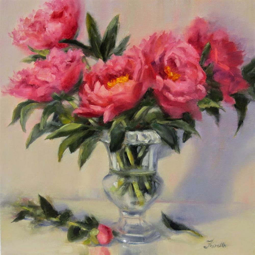 """Good Fortune- Painting Peonies"" original fine art by Pat Fiorello"