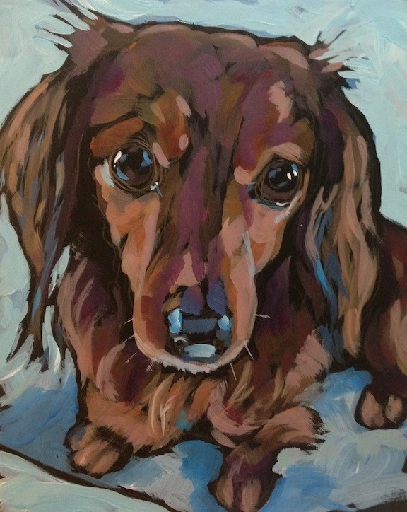 """Lacy"" original fine art by Kat Corrigan"