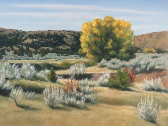 """Sagebrush Sprawl"" original fine art by Carol Zirkle"