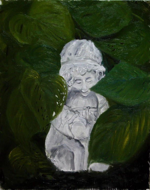 """""""Girl with Bunny"""" original fine art by Mary Datum"""