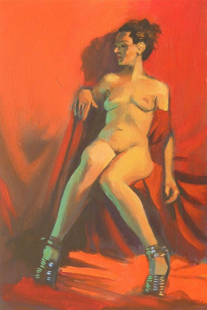 """Seated"" original fine art by Peter Orrock"