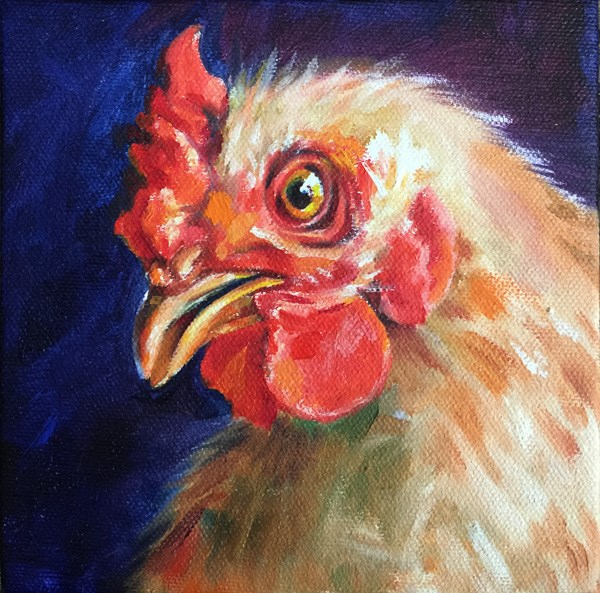 """hen01"" original fine art by Joy Cai"