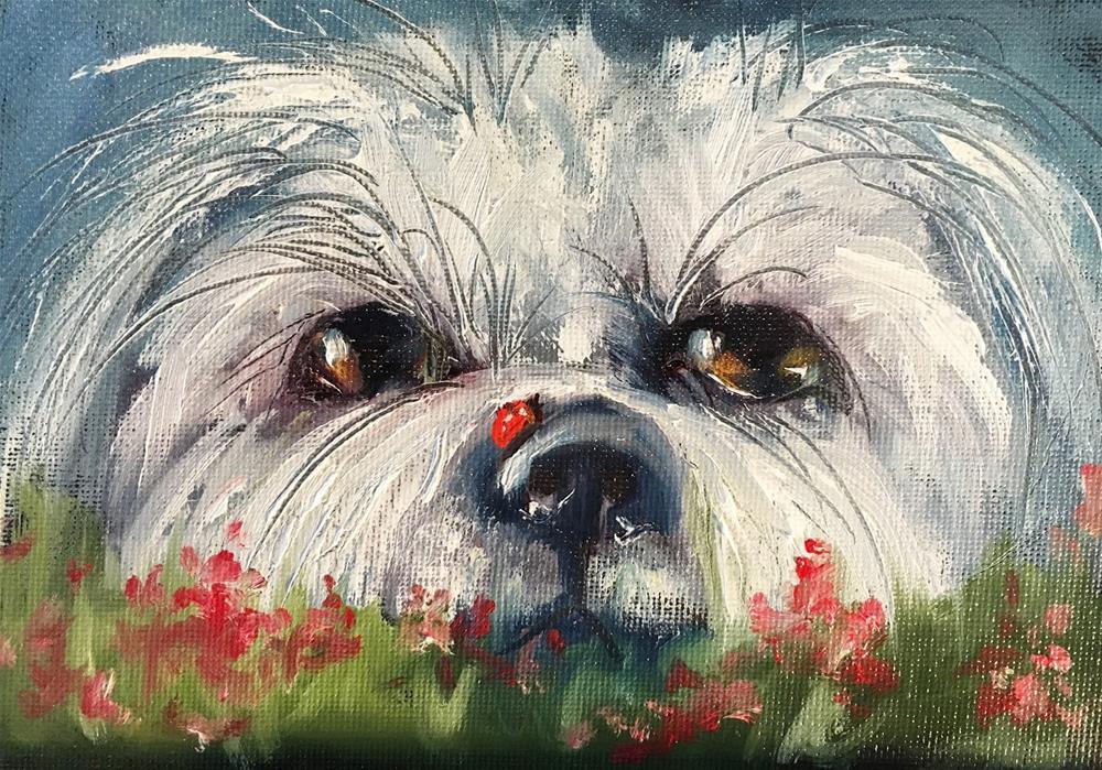 """Just Hiding Out animal painting by Alabama Artist Angela Sullivan"" original fine art by Angela Sullivan"