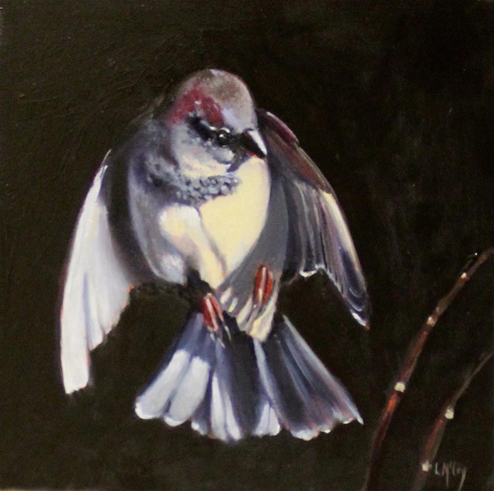 """Revere, Sparrow Oil Painting"" original fine art by Linda McCoy"