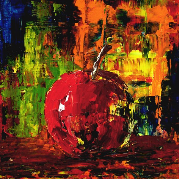 """Psychedelic Apple"" original fine art by Anna Vreman"