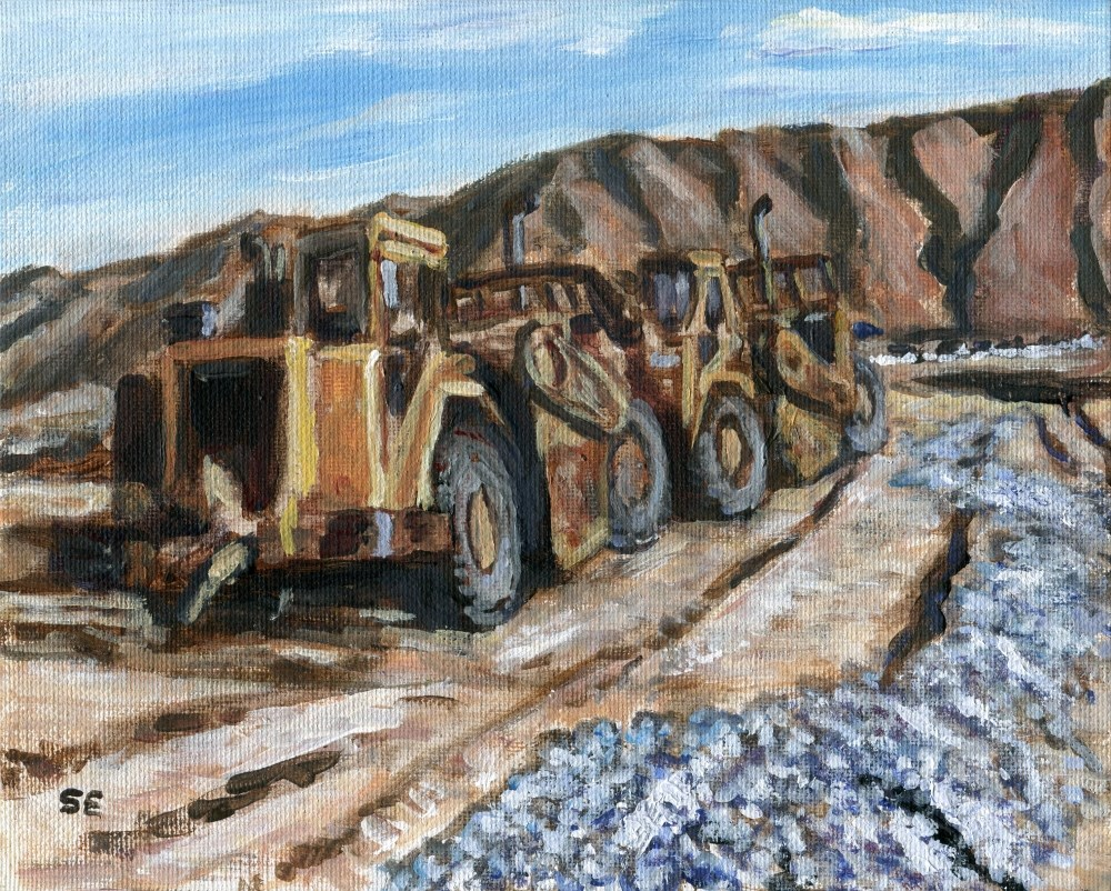 """The Eve Of Construction"" original fine art by Stanley Epperson"