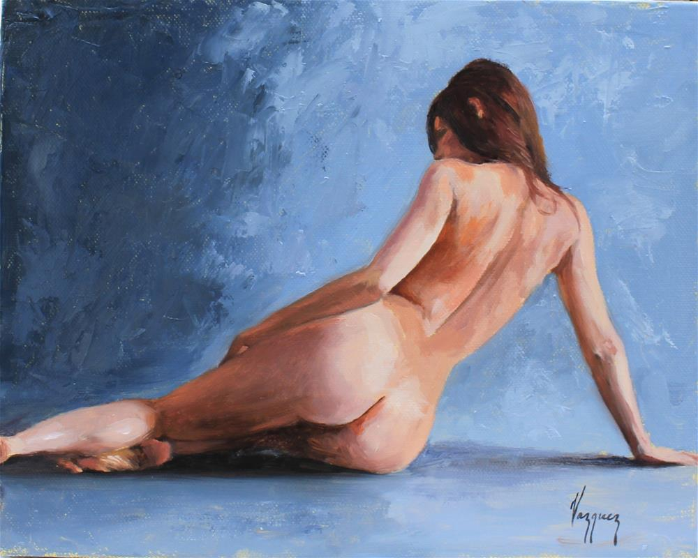 """Study of reclined nude"" original fine art by Marco Vazquez"