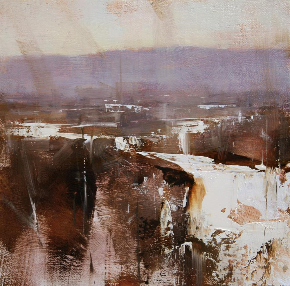 """Winter Impression"" original fine art by Tibor Nagy"