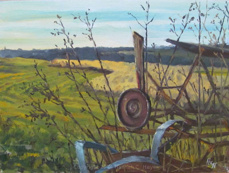 """The Old Swather"" original fine art by Hannah C. Heyer"
