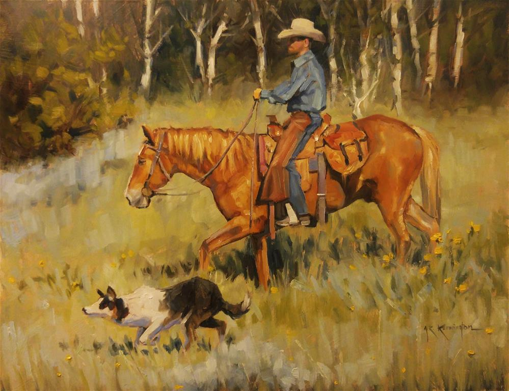 """The Trio"" original fine art by Rick Kennington"