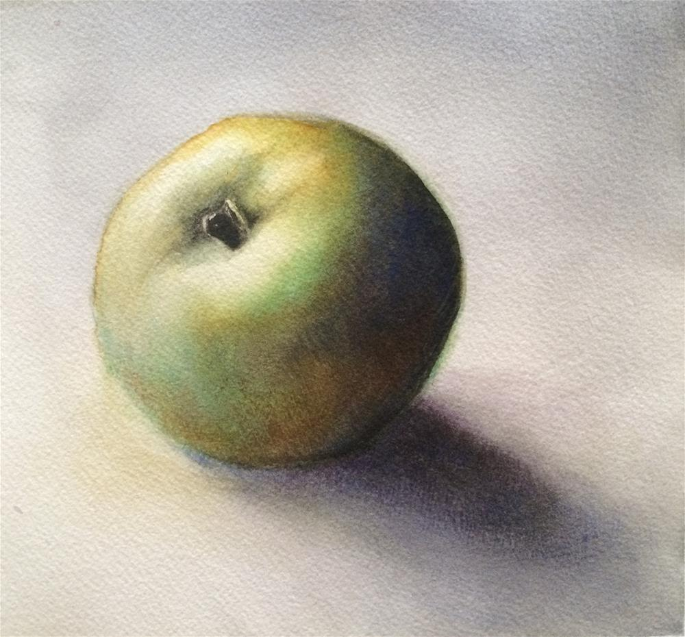 """Green Apple"" original fine art by Claudia Selene"
