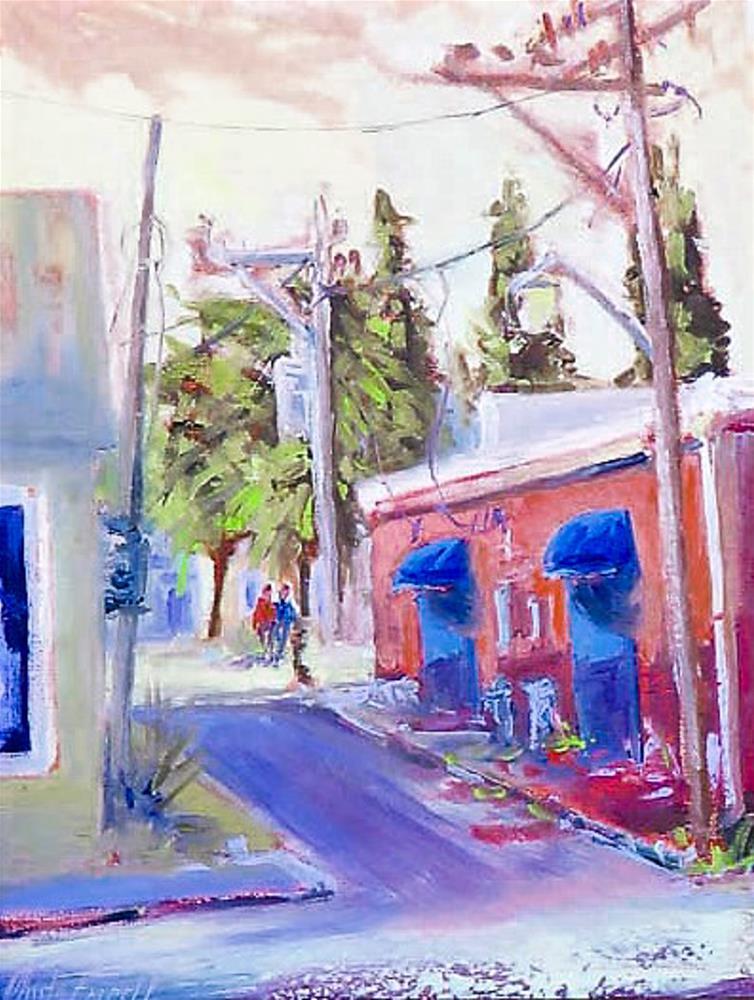 """""""Backstreet Port St. Joe"""" original fine art by Christa Friedl"""
