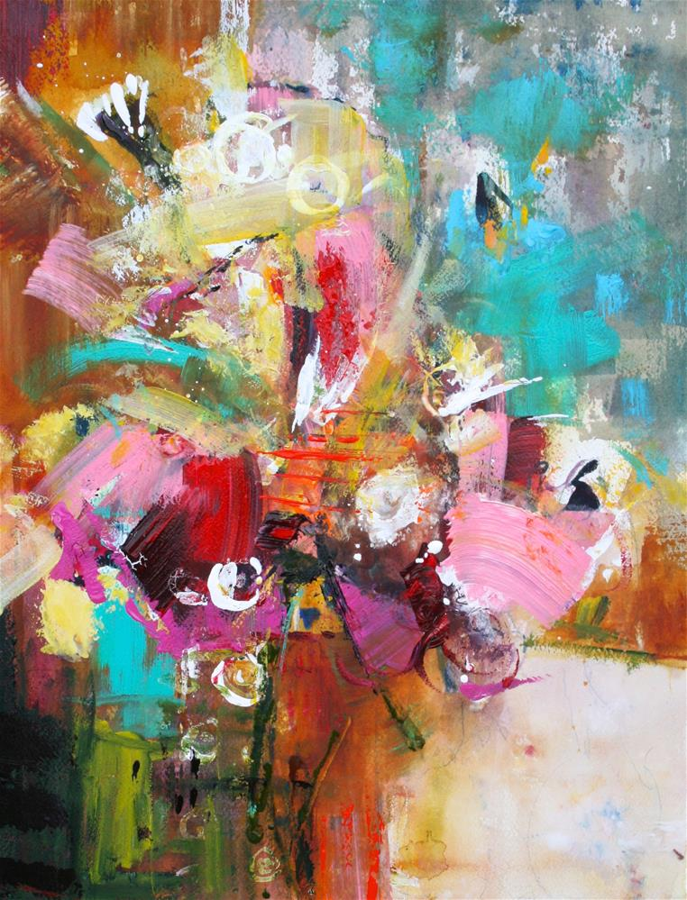 """Flowerburst"" original fine art by Elizabeth Chapman"