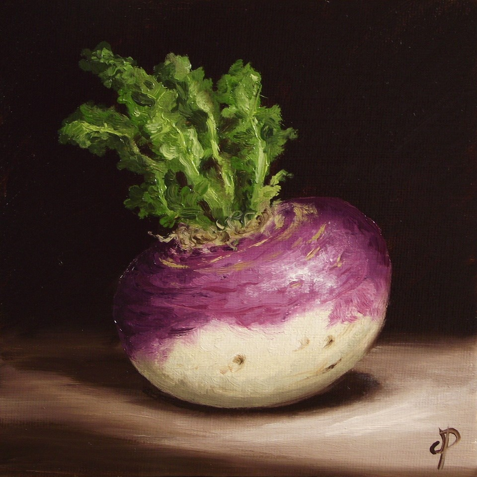 """Purple top Turnip"" original fine art by Jane Palmer"