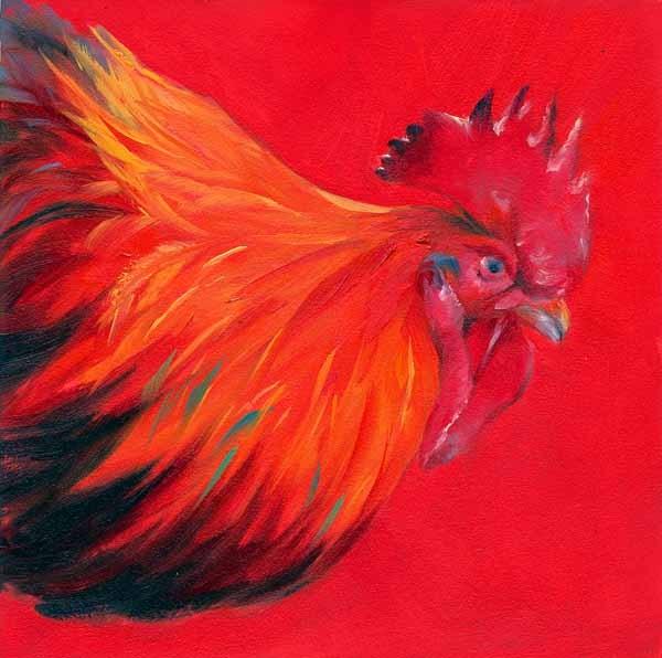 """Big Red"" original fine art by Brenda Ferguson"