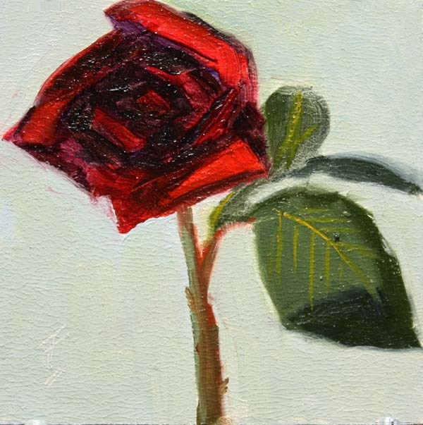 """A Red One"" original fine art by Jane Frederick"