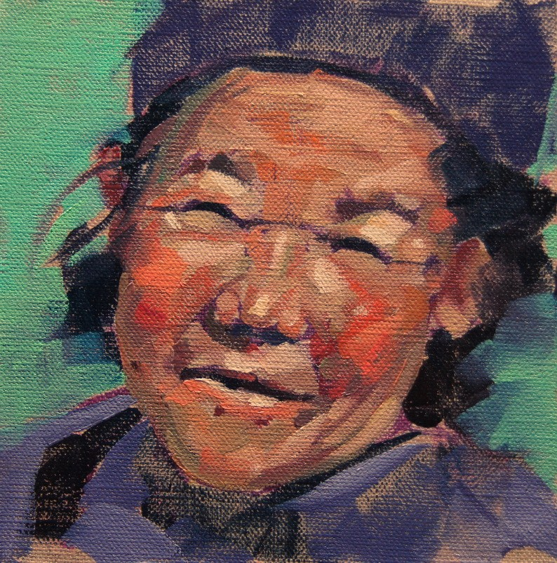 """Tibetan Smile"" original fine art by Brian Buckrell"