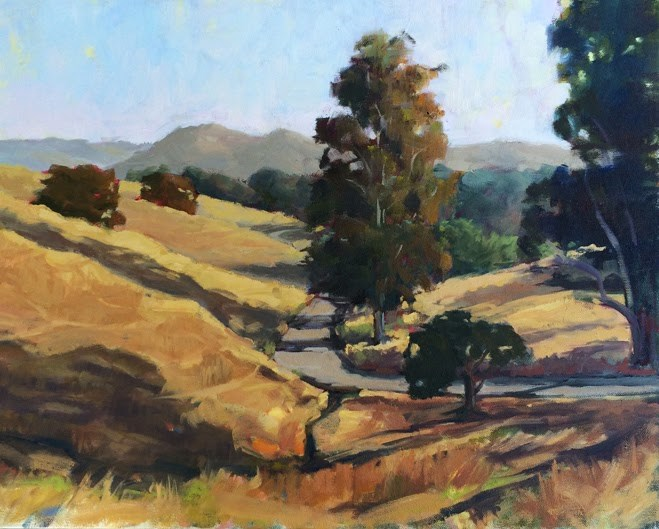 """Country Road South"" original fine art by Deborah Newman"