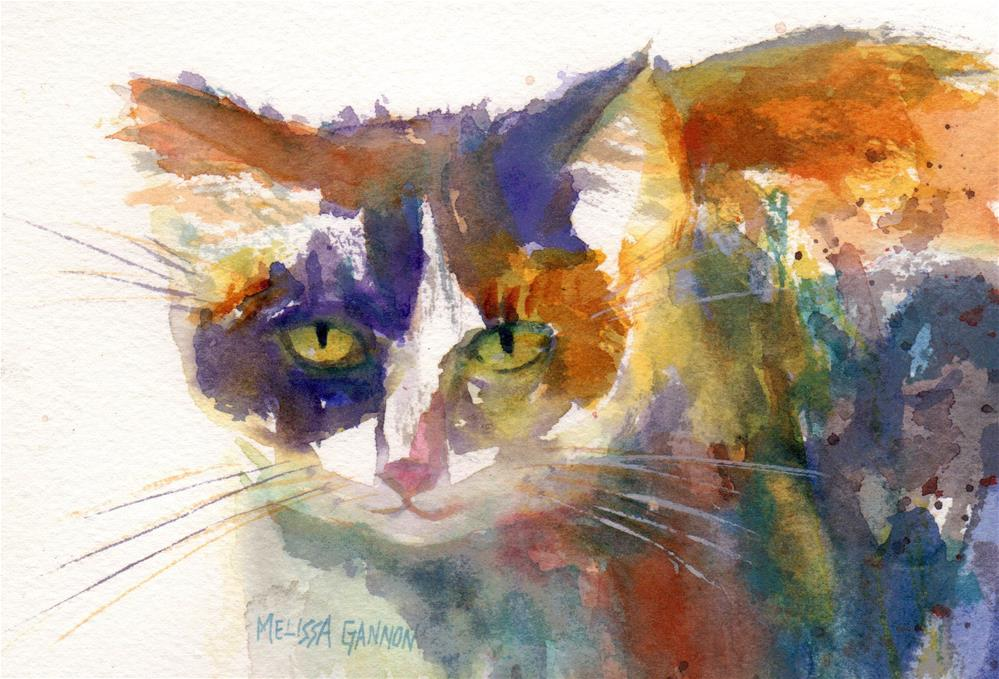 """Calico Cat"" original fine art by Melissa Gannon"