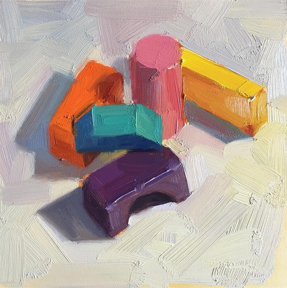 """Wooden Blocks"" original fine art by Katia Kyte"