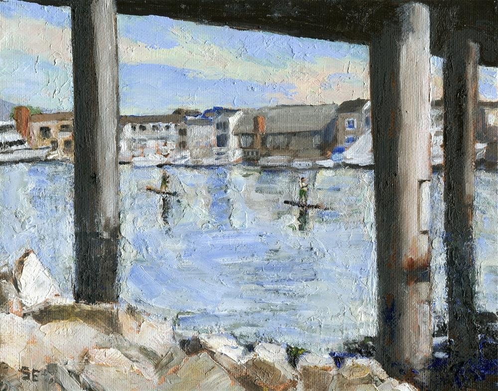 """Crossing Under"" original fine art by Stanley Epperson"
