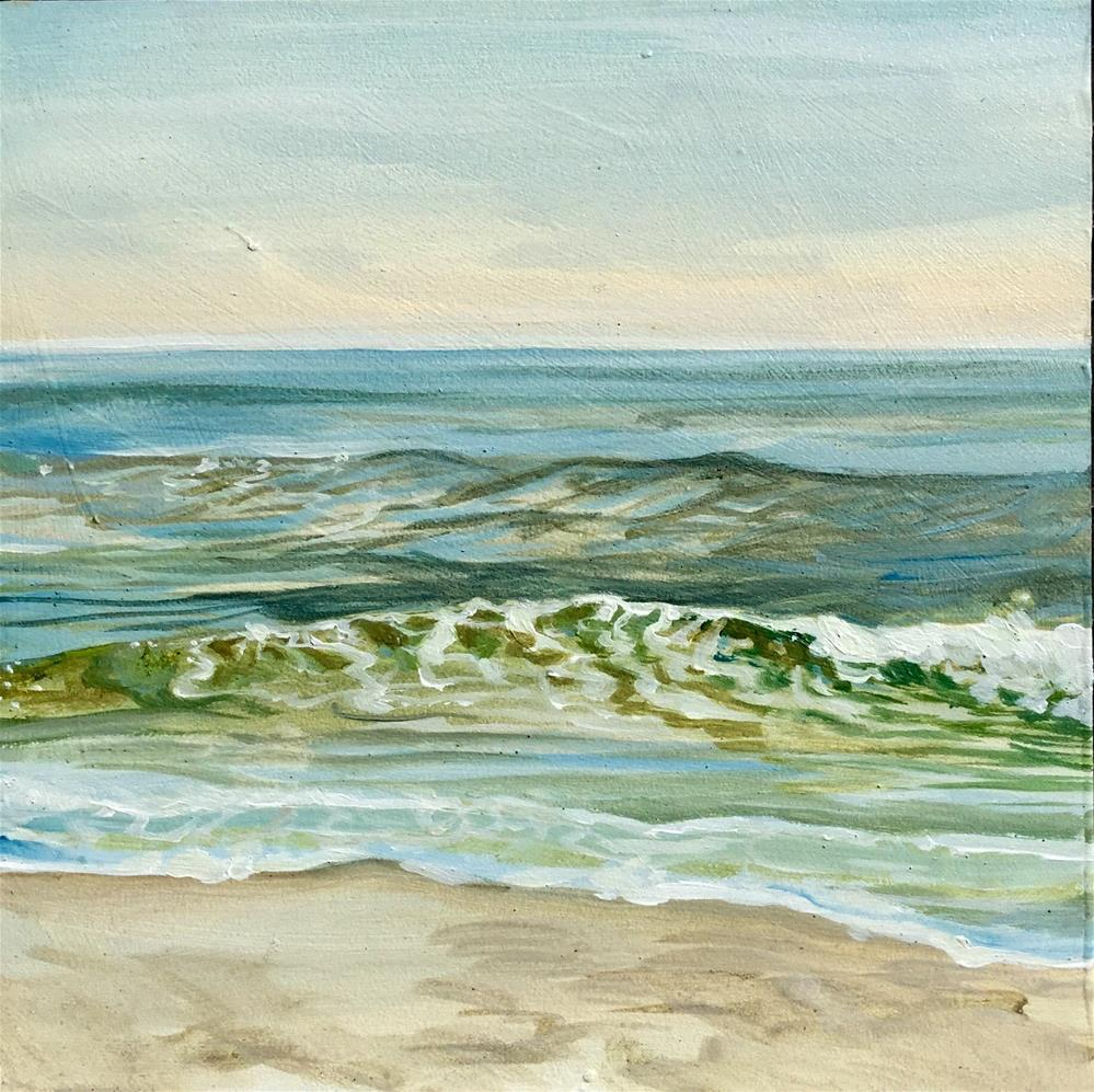 """Ocean City I"" original fine art by Lauren Kuhn"